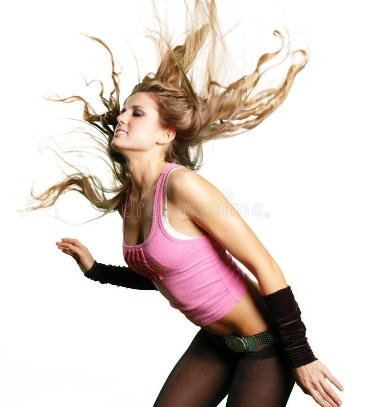 性感舞蹈演员的女孩 免版税库存照片