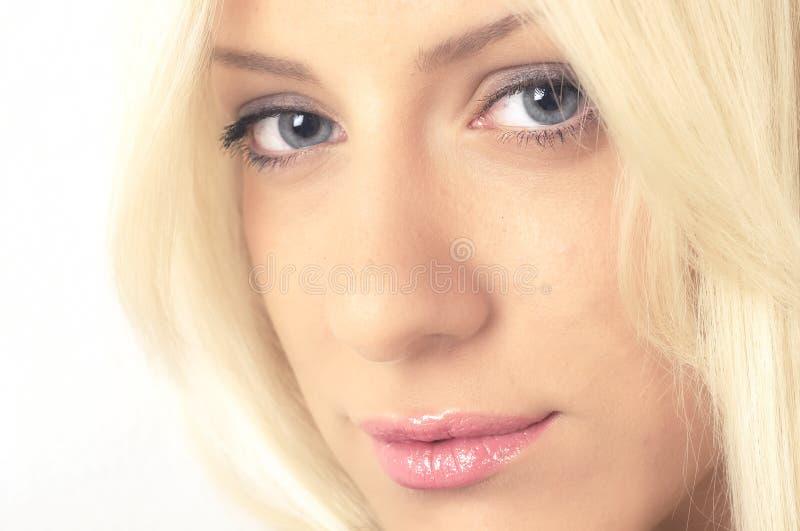 性感blondie的纵向 库存照片