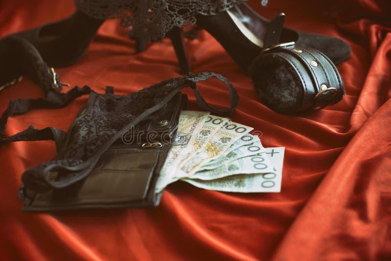 性旅游业、bdsm或者妓女题材的概念 免版税库存图片