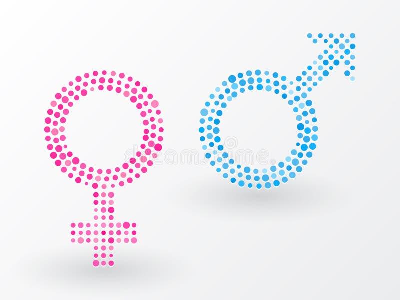 性标志 向量例证