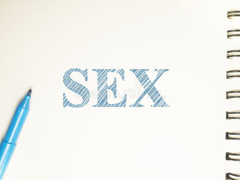 性爱抚性交高潮,词行情概念 免版税库存照片