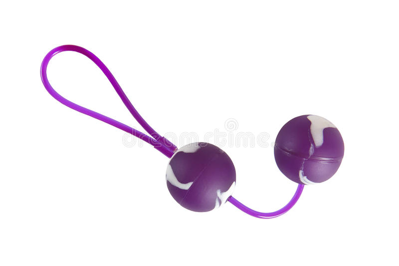 性玩具-紫色和白色爱球 图库摄影