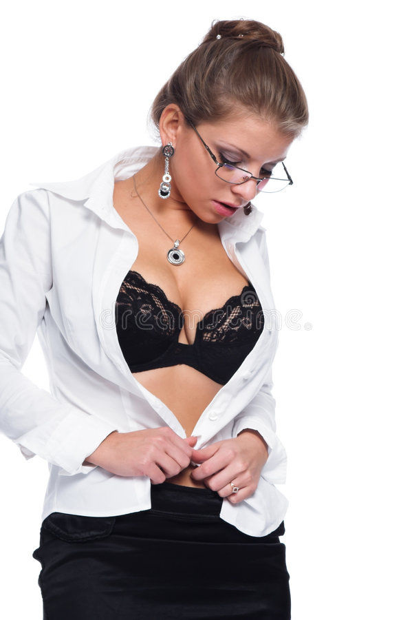 性的秘书 库存照片