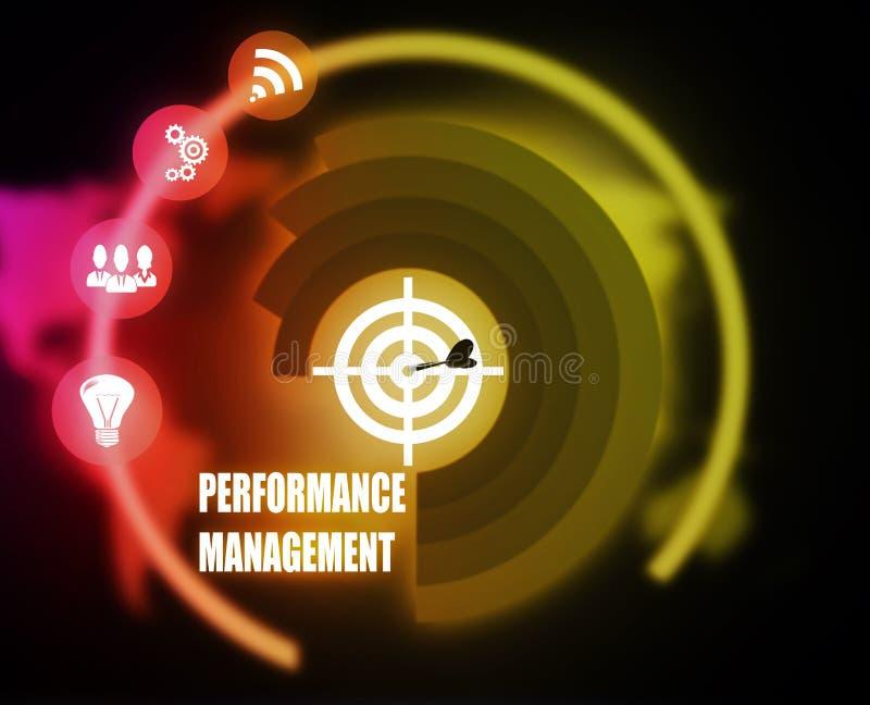 性能管理概想计划图表 向量例证