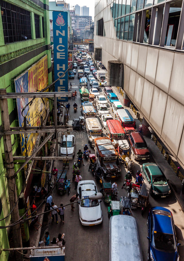 怪异交通堵塞 库存照片