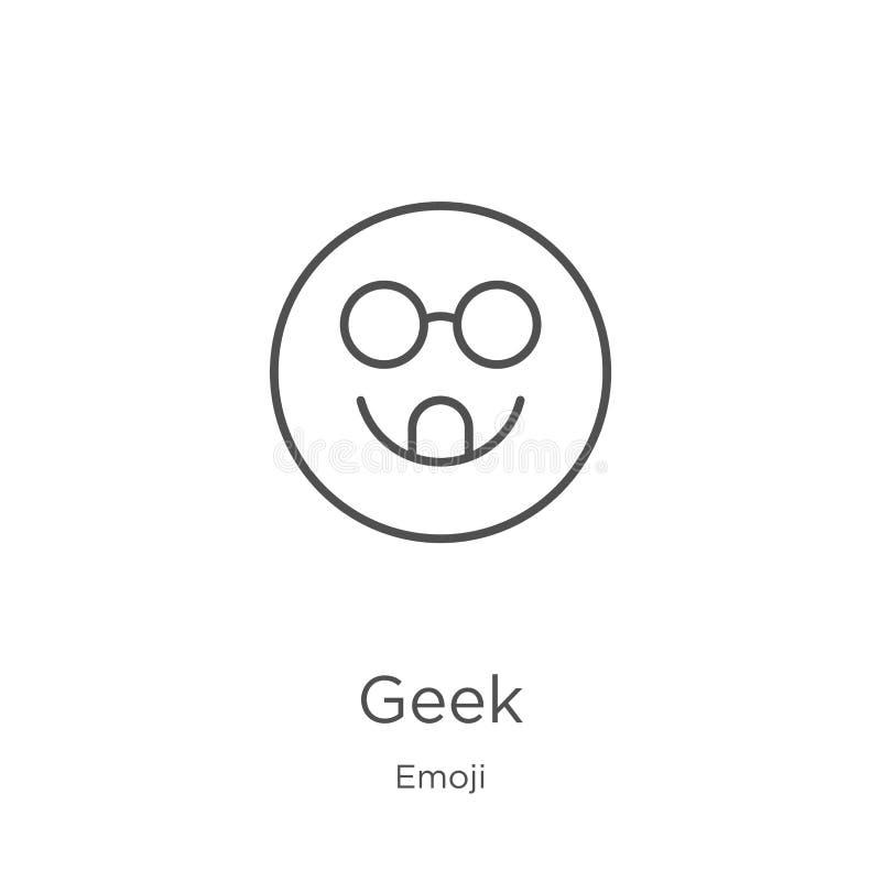 怪杰从emoji汇集的象传染媒介 稀薄的线怪杰概述象传染媒介例证 概述,稀薄的线网站的怪杰象 向量例证