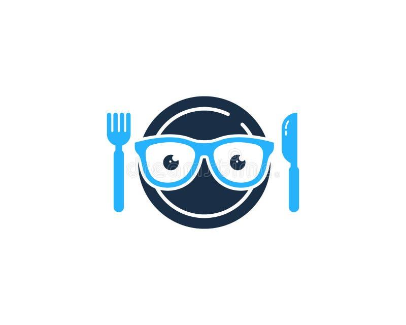 怪杰食物象商标设计元素 库存例证