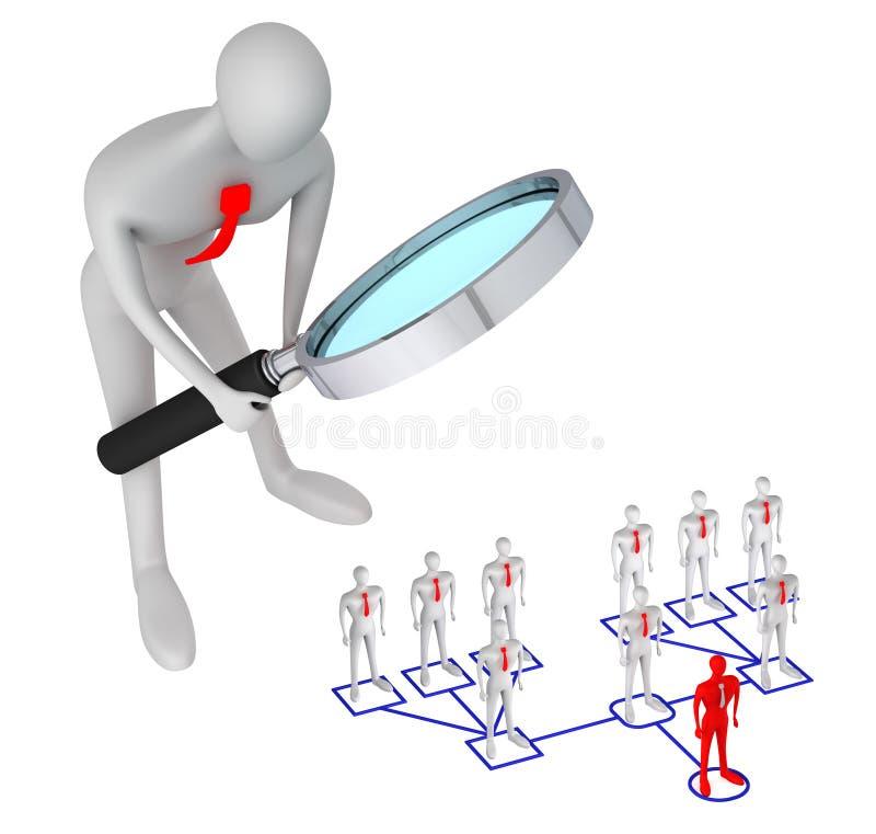 总公司人关系结构 向量例证