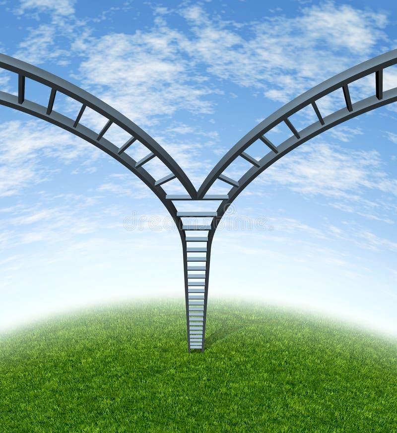 总公司决策梯子 向量例证