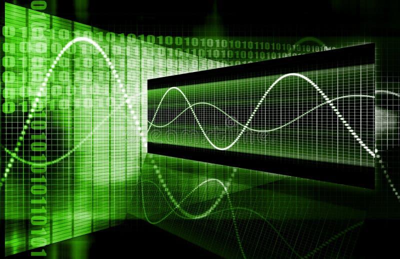 总公司数据绘制绿色 库存例证