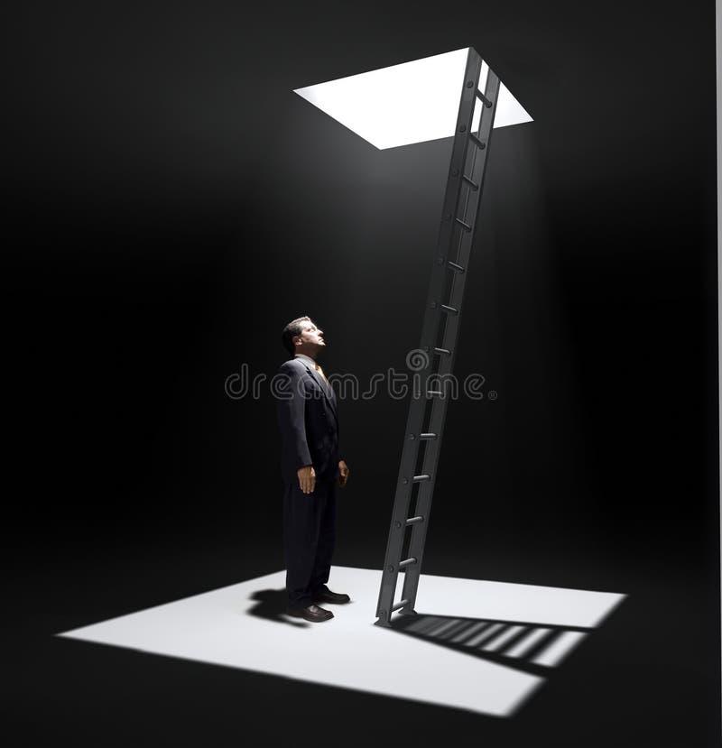 总公司梯子 库存图片