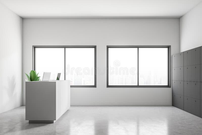 总台侧视图在现代公司中 向量例证