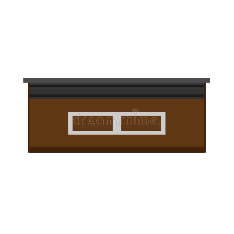 总台正面图传染媒介象 旅馆标志办公室公司大厅服务家具 企业内部设备 皇族释放例证