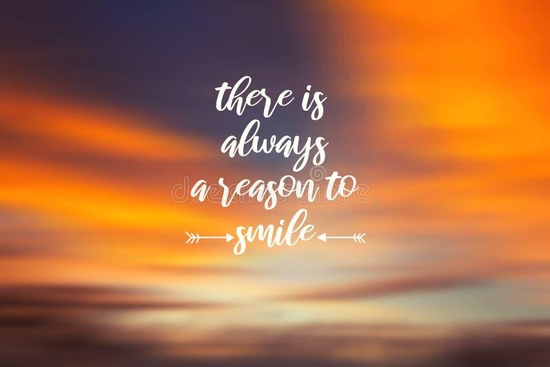 总是有原因微笑 库存图片