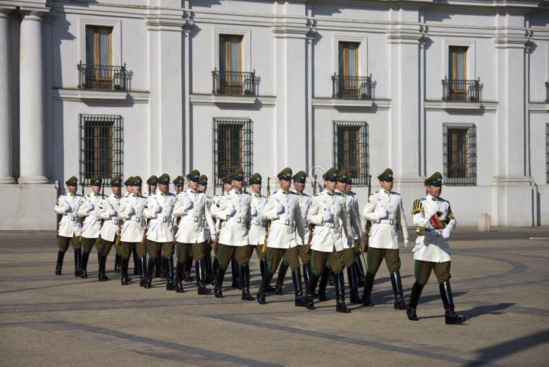 总统宫殿在圣地亚哥-智利 免版税库存照片