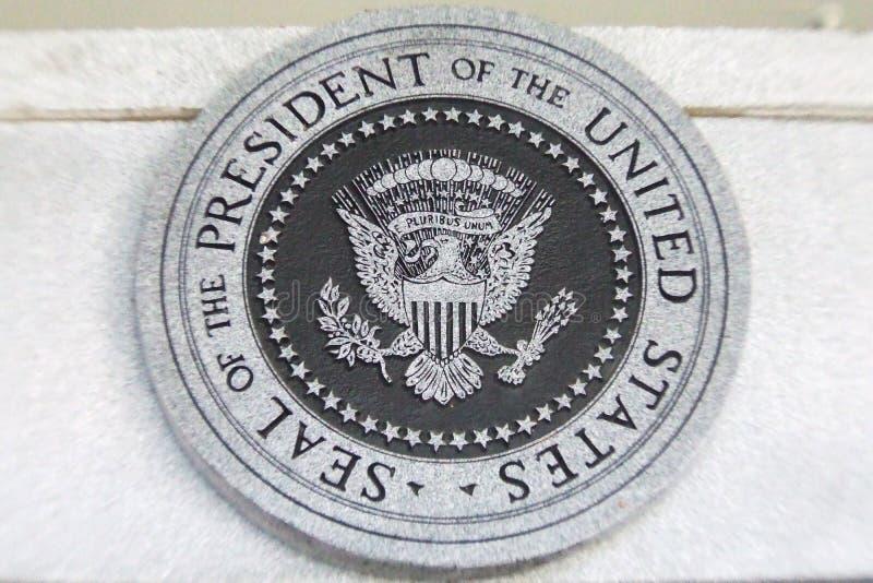 总统密封美国 库存图片
