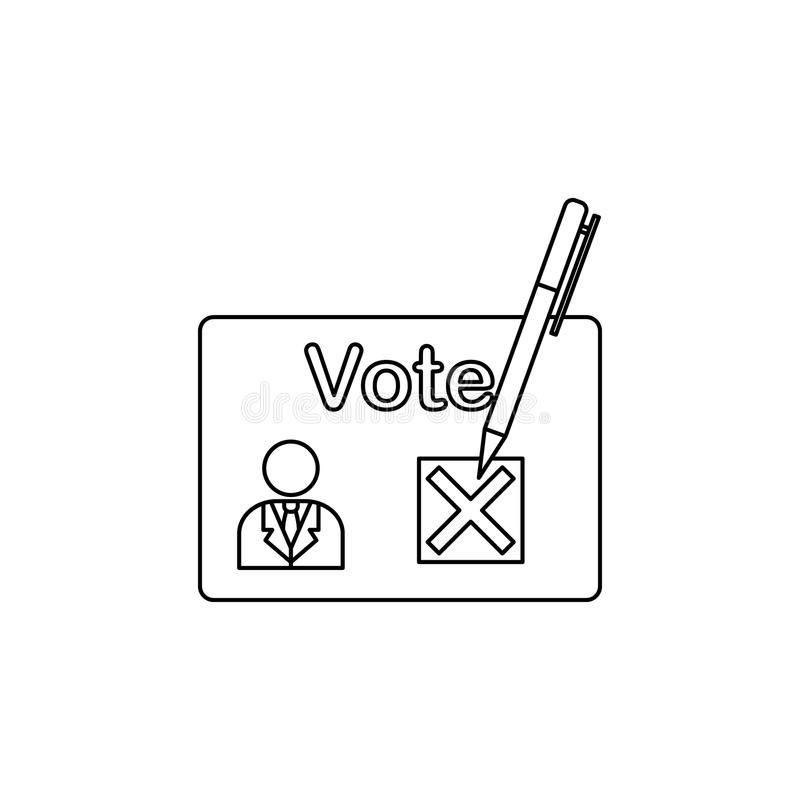 总统挑选象 竞选象的元素 优质质量图形设计 标志和标志汇集象网站的 皇族释放例证