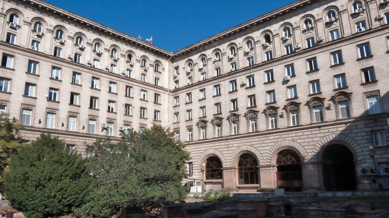 总统的职务大厦在索非亚,保加利亚的中心  免版税库存照片