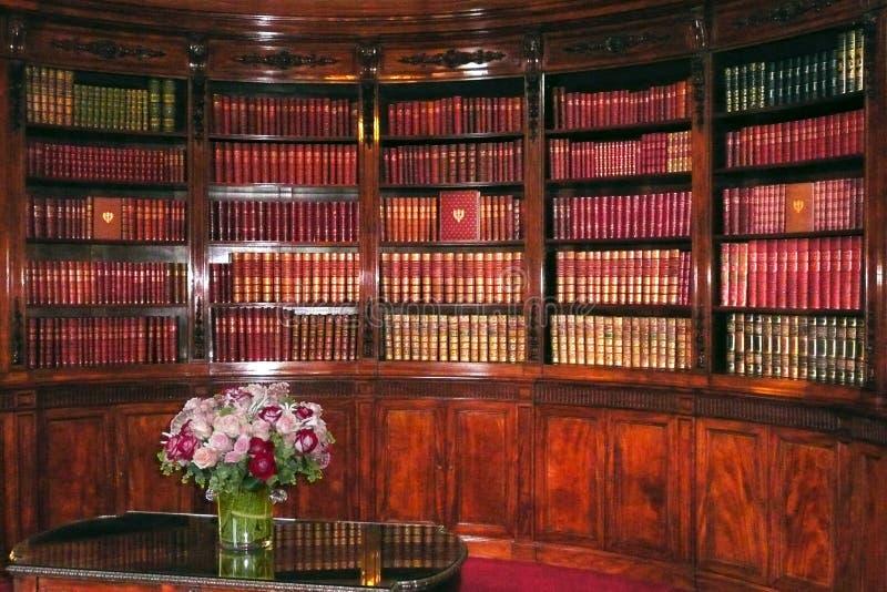 总统elysee法国的图书馆 免版税库存照片