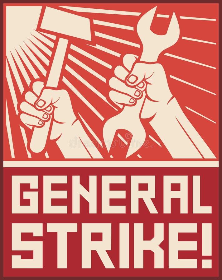 总罢工poste 库存例证