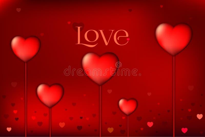 恋人和华伦泰的爱背景 特别是为华伦泰卡片和爱卡片 皇族释放例证