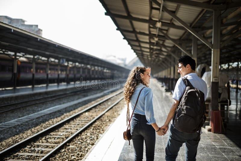 恋人夫妇统一性约会旅行旅途概念 免版税库存照片