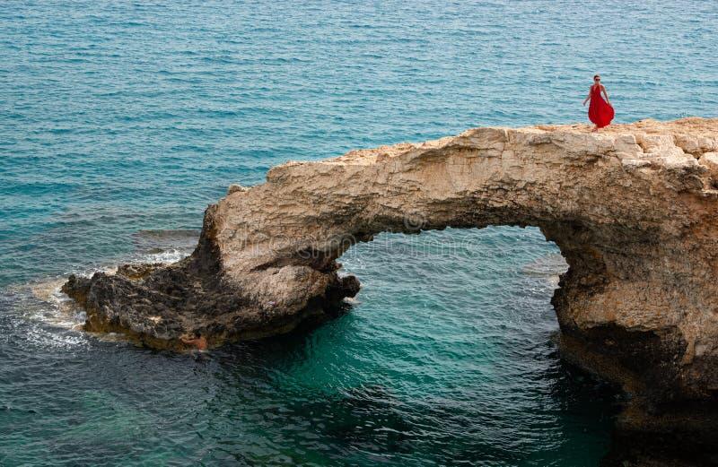 恋人桥梁,海洞Ayia Napa塞浦路斯 免版税库存照片