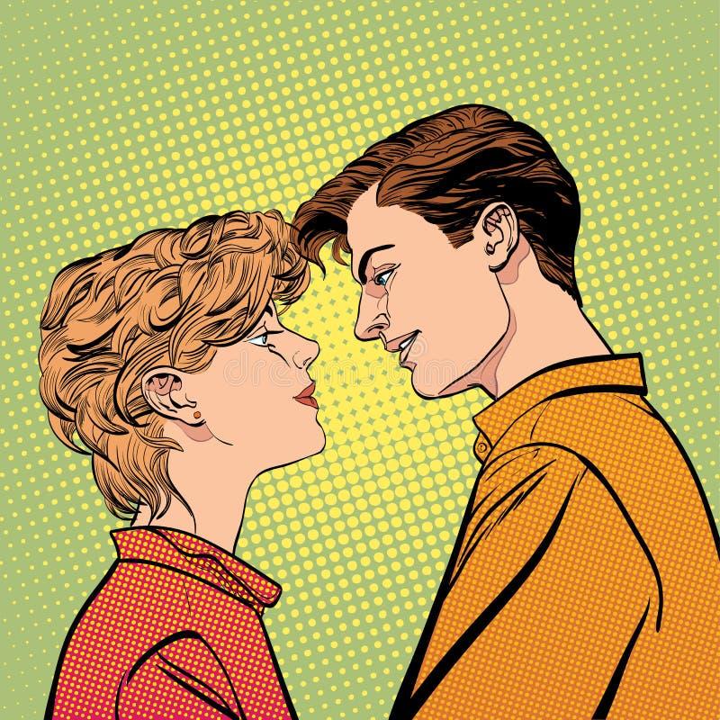 恋人结合亲吻,浪漫亲吻 拉丁文的华伦泰` s天例证 日愉快的s华伦泰 概念想法  库存例证
