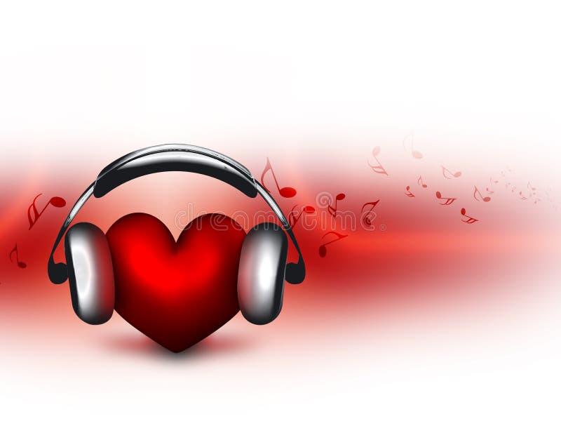 恋人音乐 向量例证