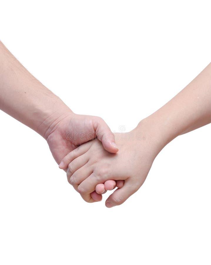 恋人结合握手 库存图片