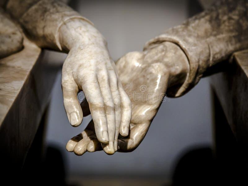 恋人de特鲁埃尔省,西班牙的陵墓 图库摄影