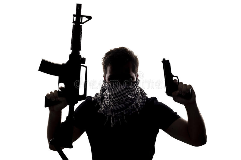 恐怖分子或Sepcial Ops战士 免版税库存照片