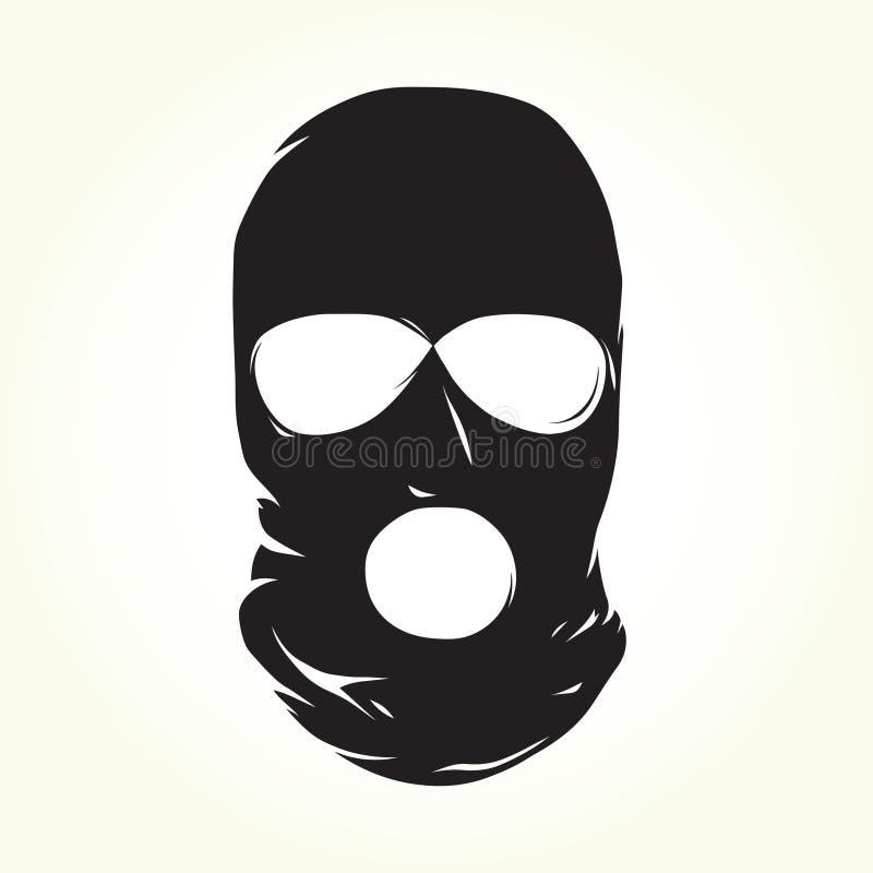 恐怖分子面具 向量例证