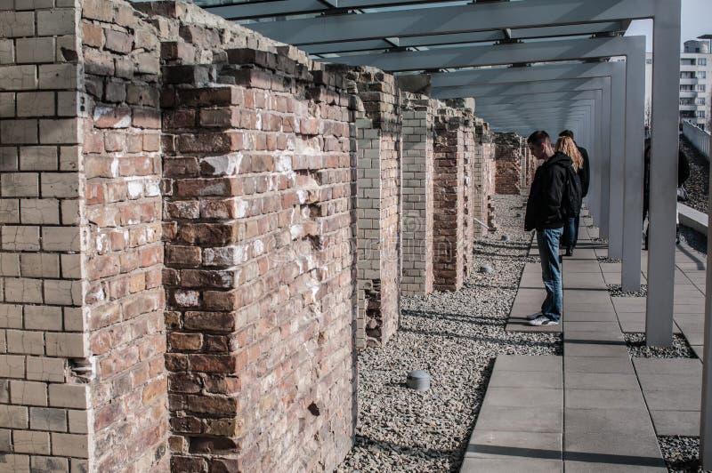恐怖博物馆,柏林,德国地势  库存照片