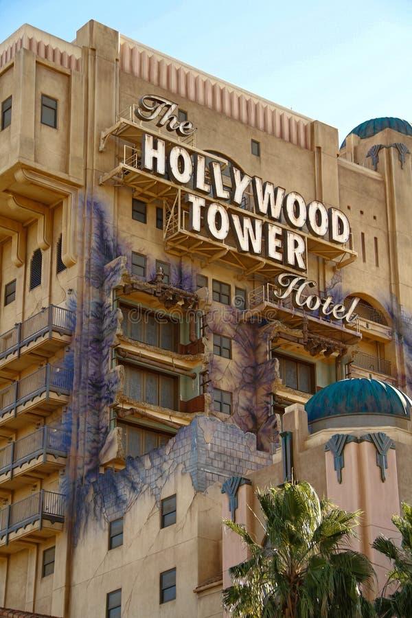 恐怖好莱坞塔旅馆曙暮光区塔  库存图片