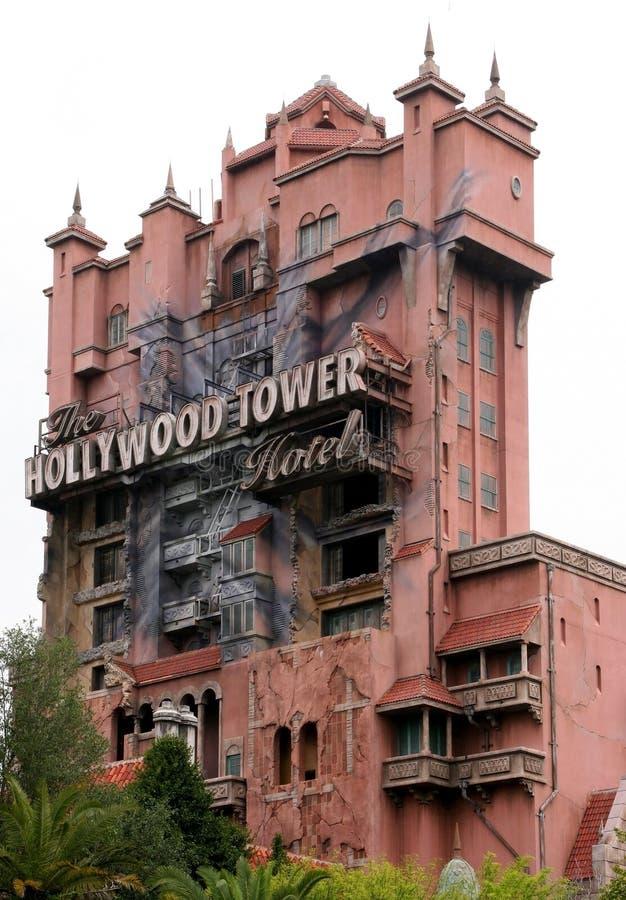 恐怖好莱坞塔  库存照片
