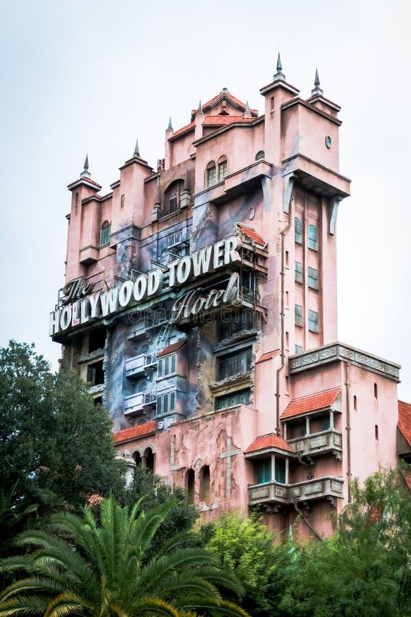 恐怖好莱坞塔 免版税库存图片