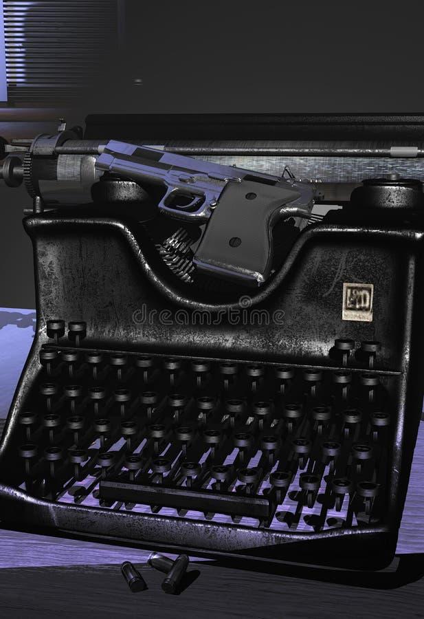 恐怖小说家 向量例证