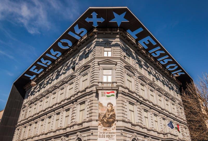 恐怖或恐怖阿萨议院是一个博物馆在布达佩斯,匈牙利 库存图片