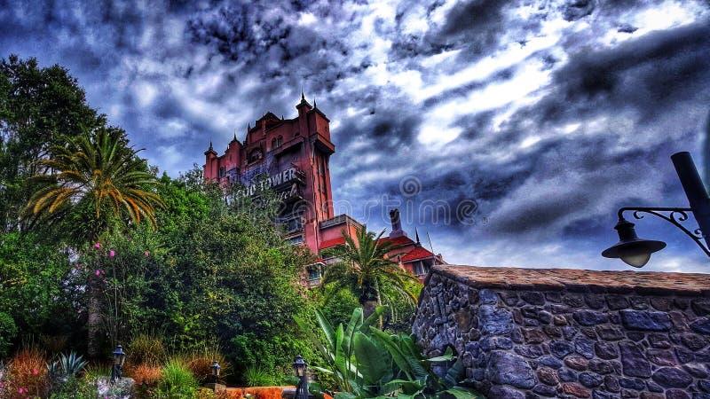 恐怖曙暮光区塔在迪斯尼` s好莱坞演播室的 免版税库存图片