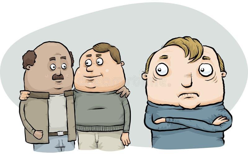 恐惧同性恋的人 库存例证