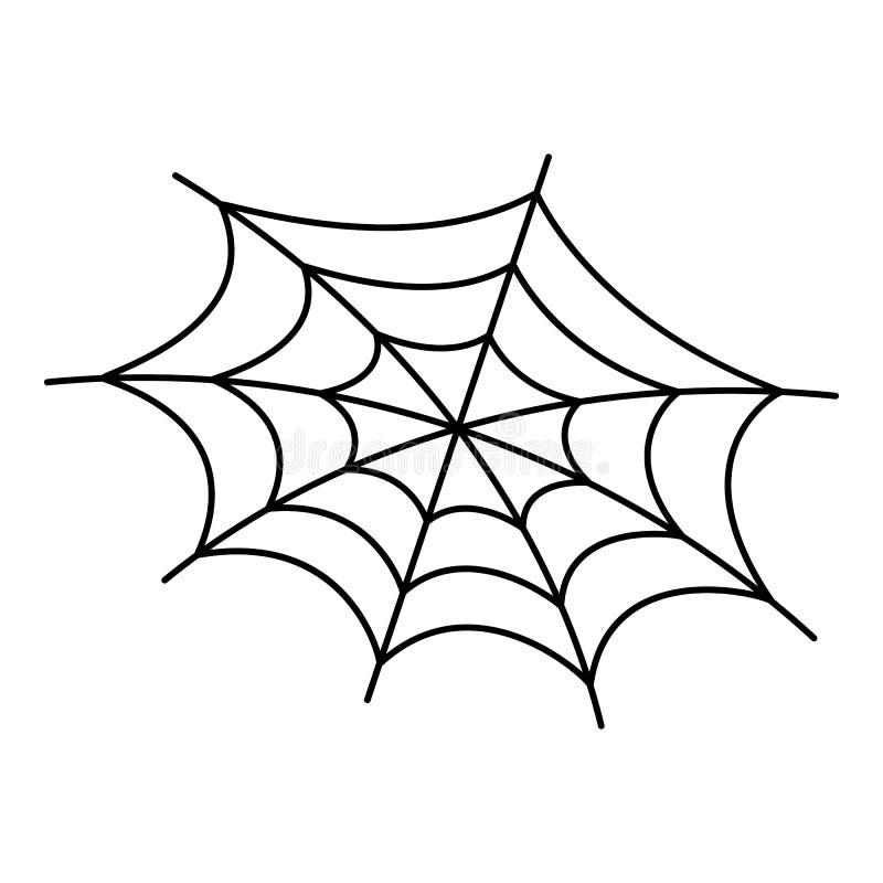 恐惧蜘蛛网象,概述样式 向量例证