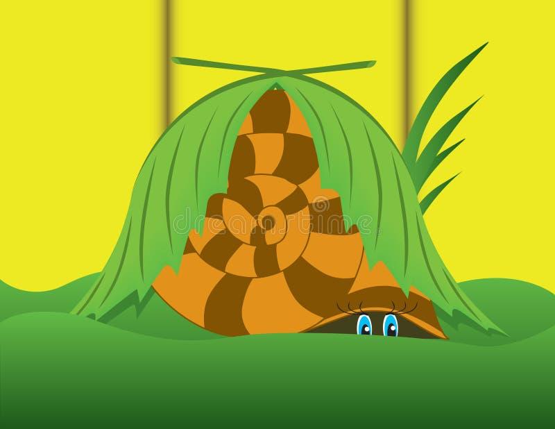恐惧隐藏的蜗牛 皇族释放例证