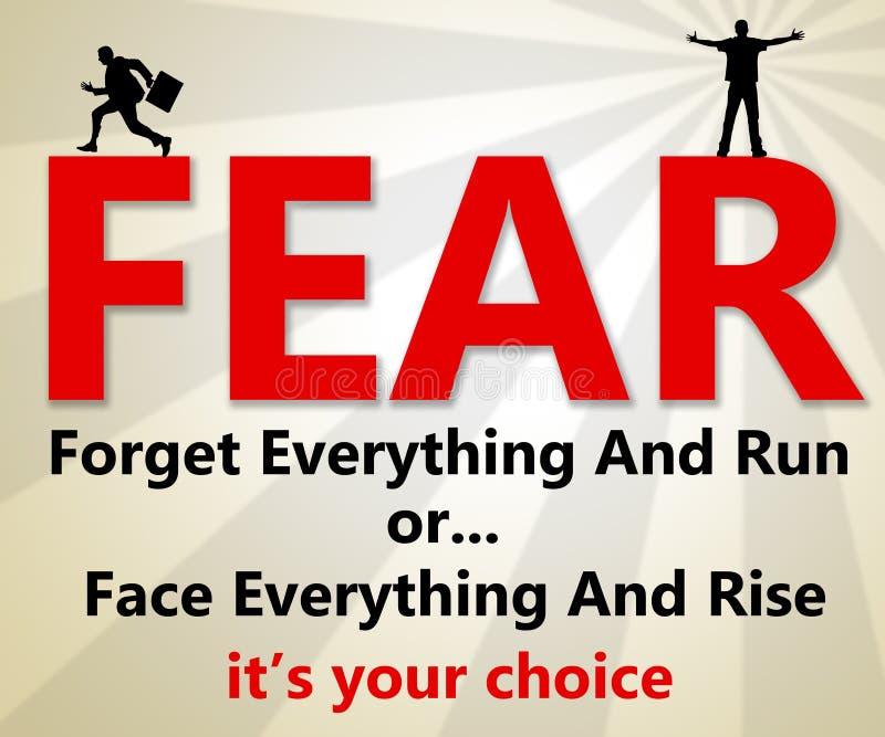 恐惧 库存例证