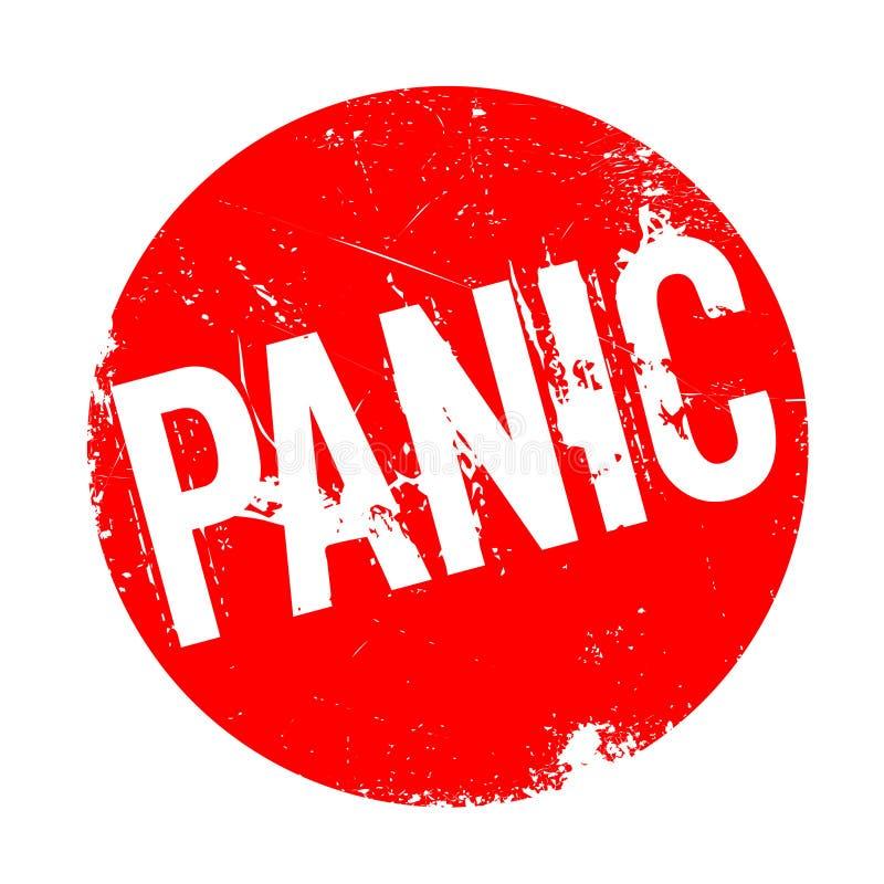 恐慌不加考虑表赞同的人 向量例证
