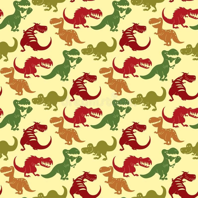 恐龙传染媒介迪诺动物暴龙t雷克斯危险生物力量狂放侏罗纪食肉动物史前绝种 库存例证