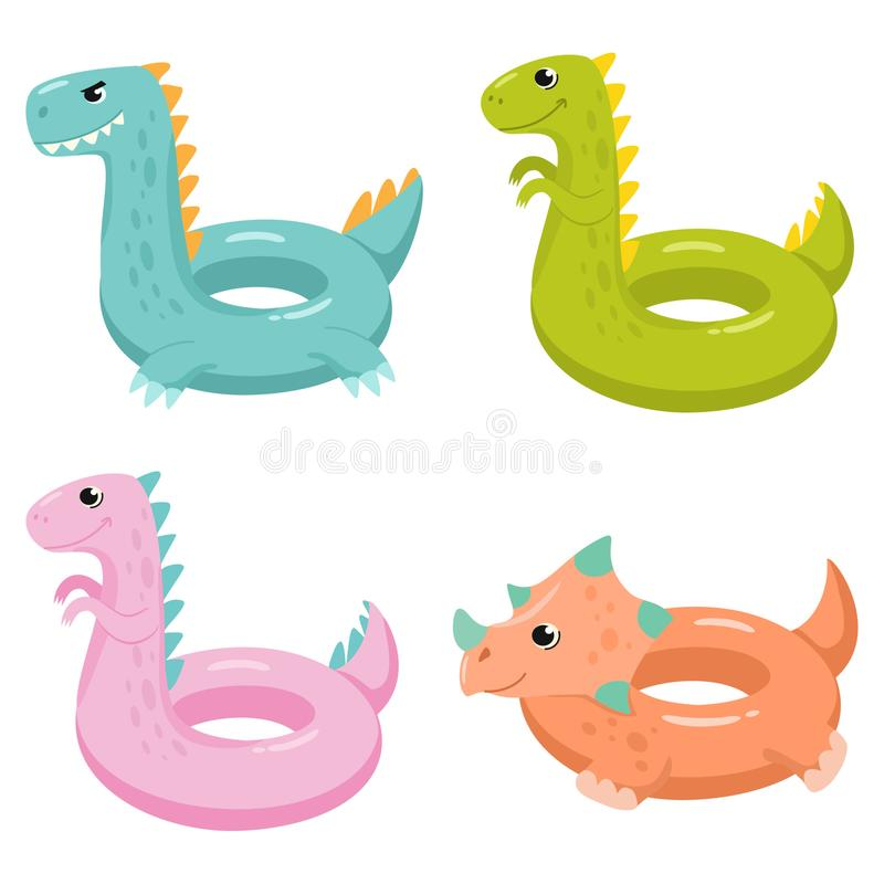 恐龙可膨胀的游泳场浮游物 r 库存例证