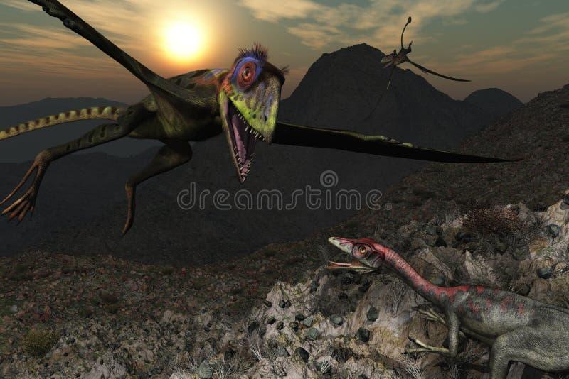 恐龙山 向量例证