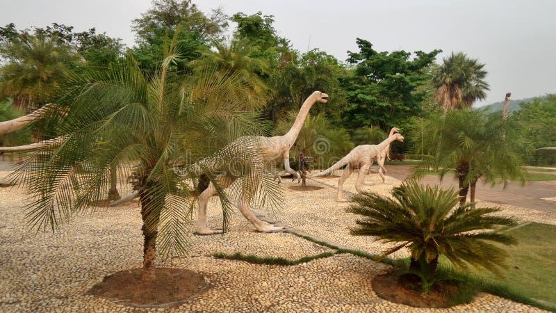 恐龙显示与实物大小一样的replicss在Si Wiang的停放,泰国 图库摄影