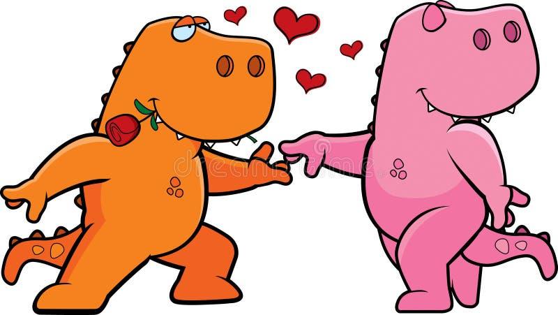 恐龙浪漫史 向量例证